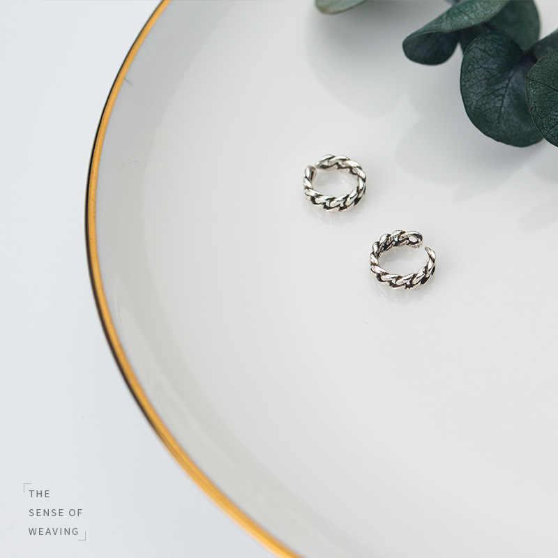 โรงงานราคา 100% 925 เงินสเตอร์ลิงแฟชั่น Minimalism รอบ Hoop Ear Clip เครื่องประดับ Fine สำหรับผู้หญิงผู้ชาย