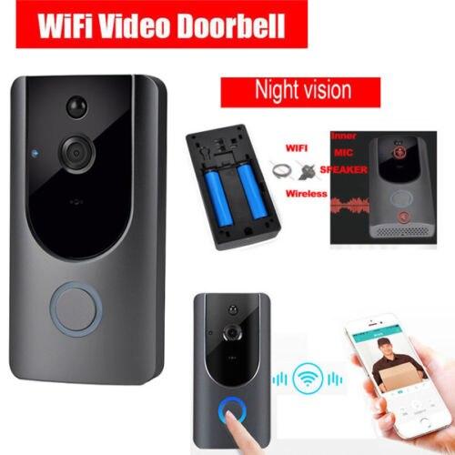 Intelligent sans fil WiFi anneau sonnette caméra vidéo téléphone cloche interphone sécurité à la maison sonnette chaude