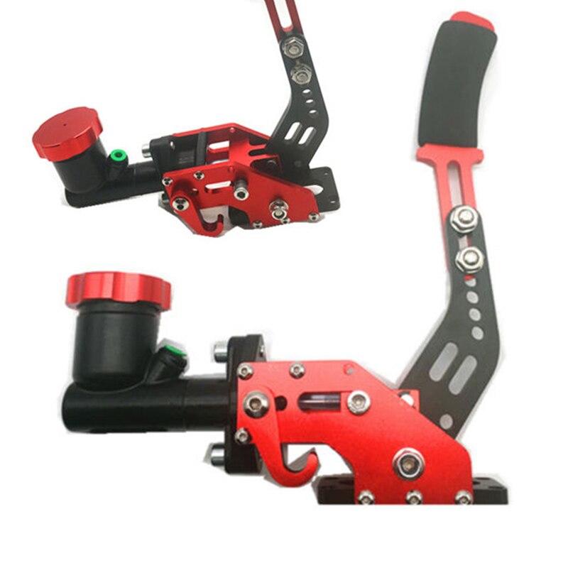 1 PC 0.75Bar voiture véhicule dérive hydraulique rallye levier frein à main vitesse + réservoir d'huile rouge pour 3/4 cylindre moto accessoires