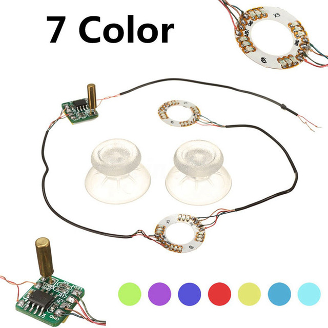 DOITOP Wireless Button Analog Mod For PS4 Platstation 4 Thumb Sticks Joystick Caps 7 Color LED Light Controller For Xbox One