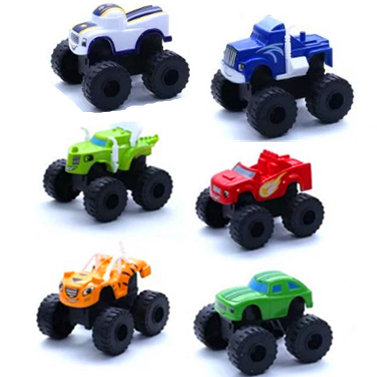 6pcs Children's Toy Car Russia miracle blaze the monster machine Vehicle Car Super Stunts Blaze Toys for children 2A017