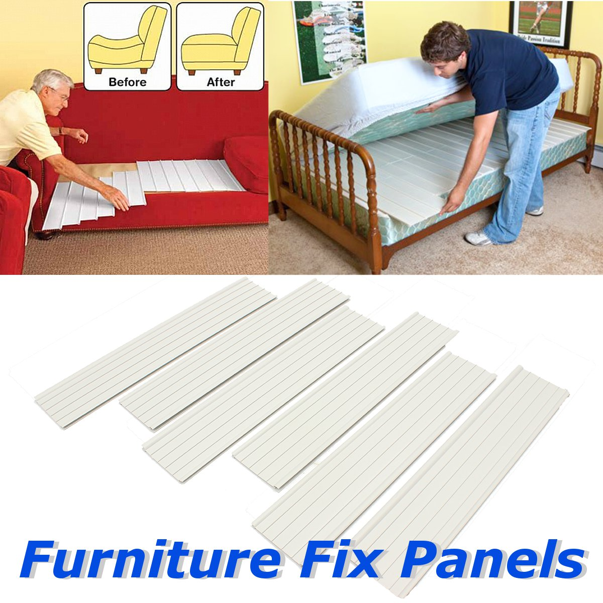 6PCS Furniture Sofa Support Cushion Fix Panels Quick Fix Support Cushions Pads For Sectional Sofa Seat Sagging Furniture Parts