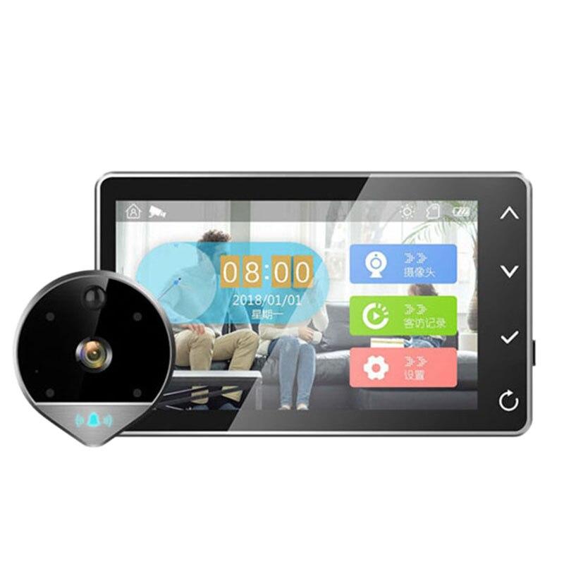 1080 P numérique judas visionneuse sécurité à domicile sonnette Support Max 32 Gb 170 Angle de vision détection de mouvement