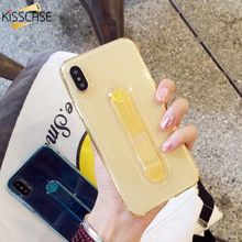 KISSCASE Transparent Case For iPhone 7 8 6 6s Plus Finger Ring Holder Phone Case For iPhone X XR XS Max 7 8 Soft Back Cover Capa(China)