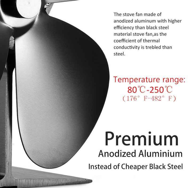 Мини многоцветные 4 лопасти вентилятор печки с тепловым питанием комин деревянная горелка экологический вентилятор Тихий Домашний эффективный распределительный вентилятор для камина