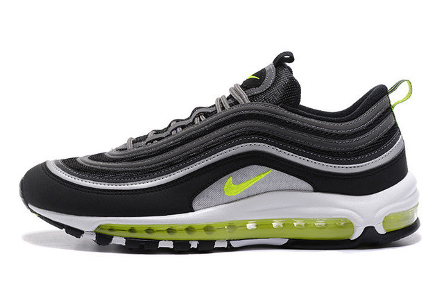 new style 0f703 4e2ce Nike Air Max 97 Fluorescent Green Retro Flow Line Men Breathable 3M Running  Shoes,NIKE Male Jogging Sport Outdoor Sneakers 40-46