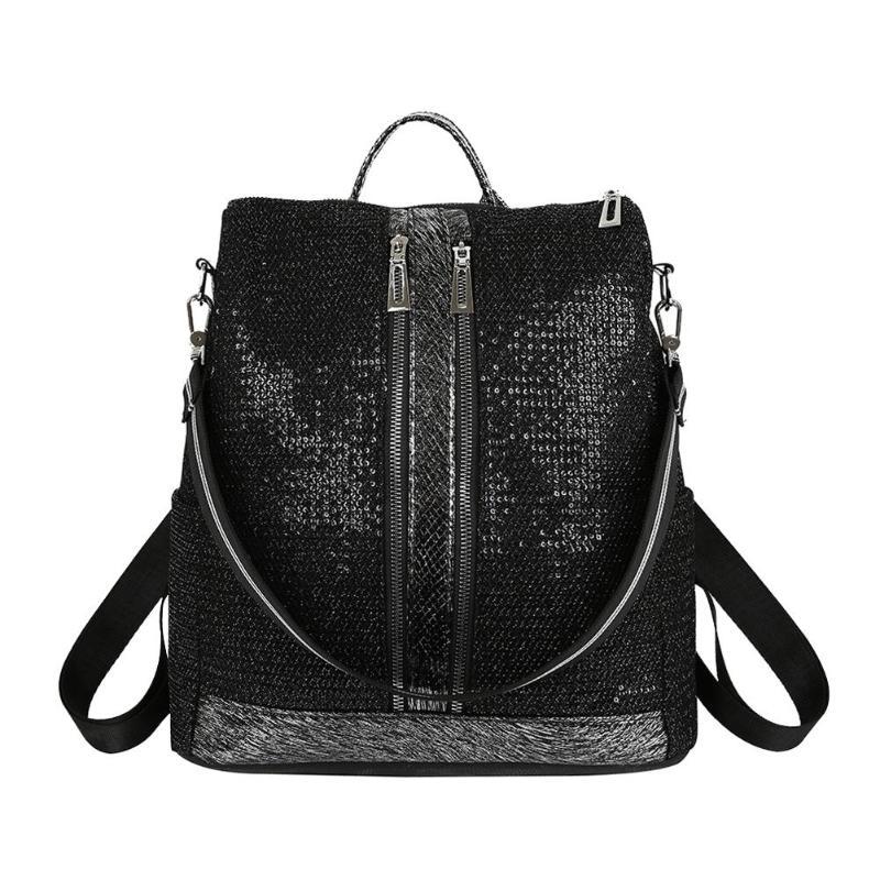 2019 Nouveau sac à dos à la mode PU Cuir Femmes Sac À Dos de Loisirs Voyage Zipper sac à dos pour étudiants sac d'école pour étudiant sac à dos de voyage