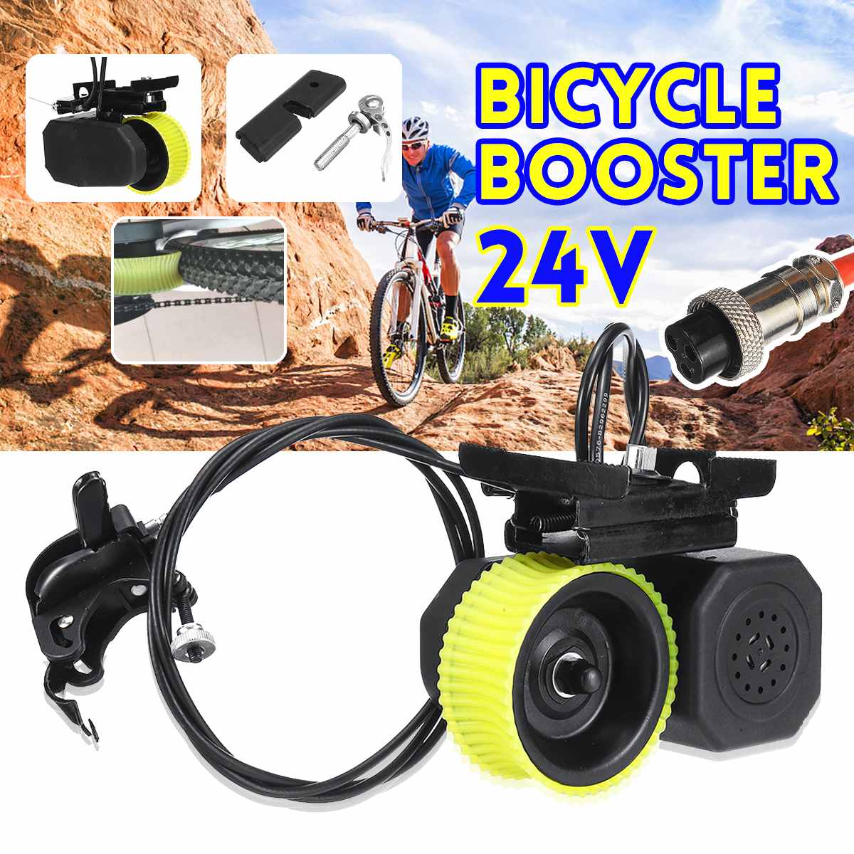 24V Bicycle Bike Booster 160*120*80mm Durable For E-Bike Electric Mountain Bike Bicycle Cycling Accessories New Arrival 2019