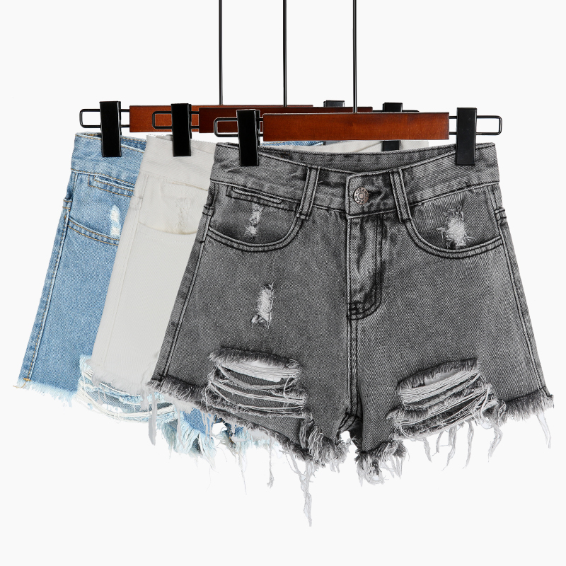 Vintage Denim Shorts Women Zipper All match Fringe Short Jeans Casual 2019 Summer Beach Sexy Mini Short Feminino in Shorts from Women 39 s Clothing