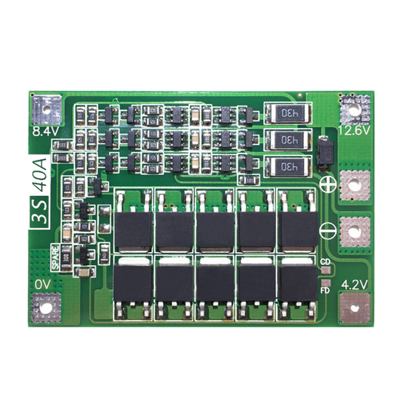 <font><b>3S</b></font> <font><b>40A</b></font> For Screwdriver 12V Li-Ion <font><b>18650</b></font> <font><b>Bms</b></font> Pcm Battery Protection Board <font><b>Bms</b></font> Pcm With Balance Liion Battery Cell Pack Module image