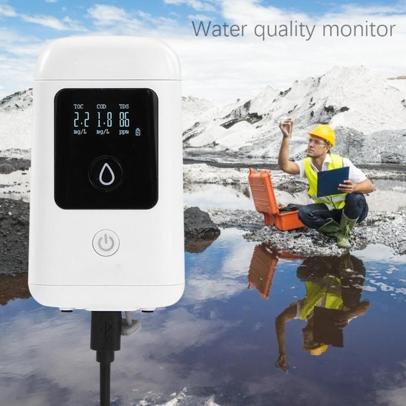 Portable Water Quality Tester Pool Tank Detector Water Quality Meter Purity Test Monitor TDS TOC COD Water Measuring Tools