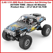 104310 2.4G 1/10 4WD Rock Crawlers 4x4 Driving Car 280 Motors Drive Bigfoot Car Remote Control Car Model Off-Road Vehicle Toys r c car 2 4g 4ch 4wd 4x4 driving car monster truck off road vehicle remote control car model toys gift for children e