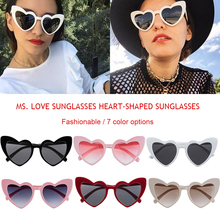 Women Heart Sunglasses  Cat Eye Sun Glasses Retro Love Shaped Ladies Shopping Sunglass UV400