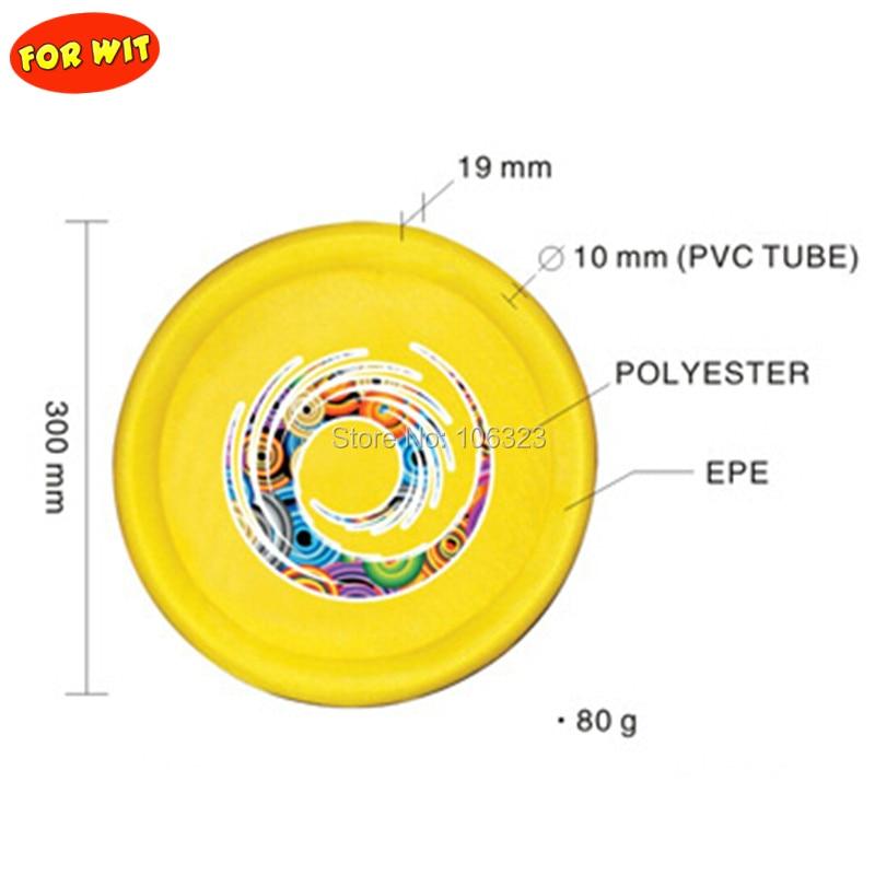 Featherlight Cloth Flying Disc, Children Soft Flying Saucer, Kid Safe Catch Disc Diameter 30cm, Sporting Toys For Beach Backyard