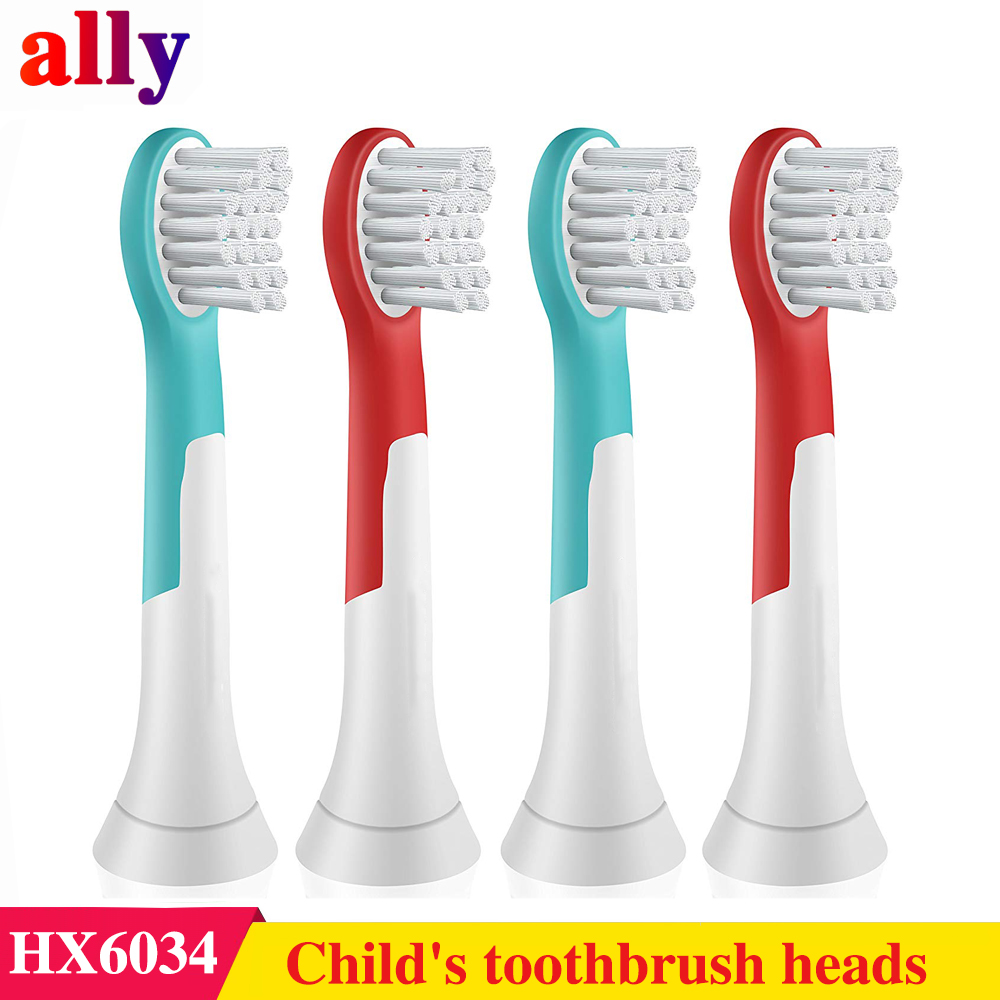 Premium Compact Replacement Child's Toothbrush Heads compatible with Philips Sonicare Kids HX6034 Electric toothbrush image