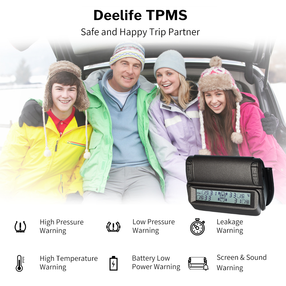 Image 5 - Windshield Solar TPMS Car Tire Pressure Monitoring System External Internal Sensor Smart Wireless Tyre Security Control Alarm-in Tire Pressure Alarm from Automobiles & Motorcycles