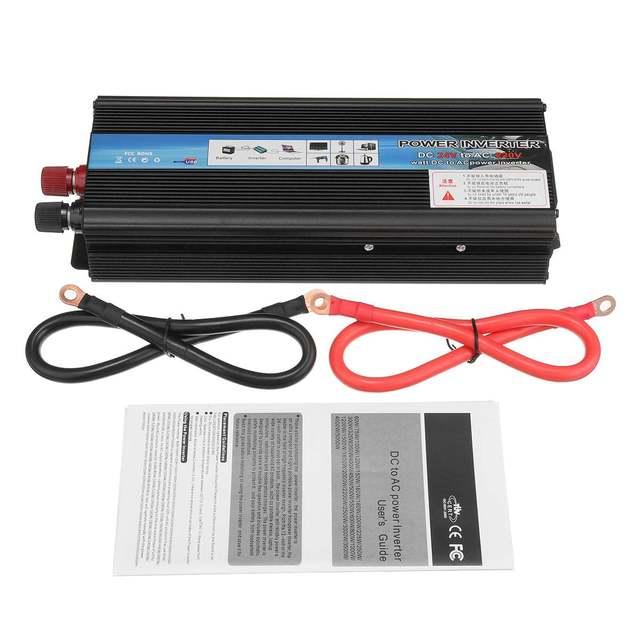 KROAK Car Inverter 12V 220V 5000W Pe ak Car Power Inverter Voltage Transformer Converter 12V To 220V Solar Inversor Black Style 6
