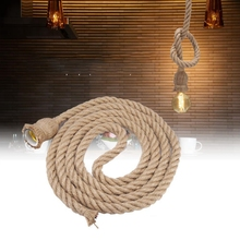 living room 4m E27 Light Holder Vintage Hemp Rope Ceiling Light Base Pendant Lamp Bulb Holder 85-265V lamp socket цены