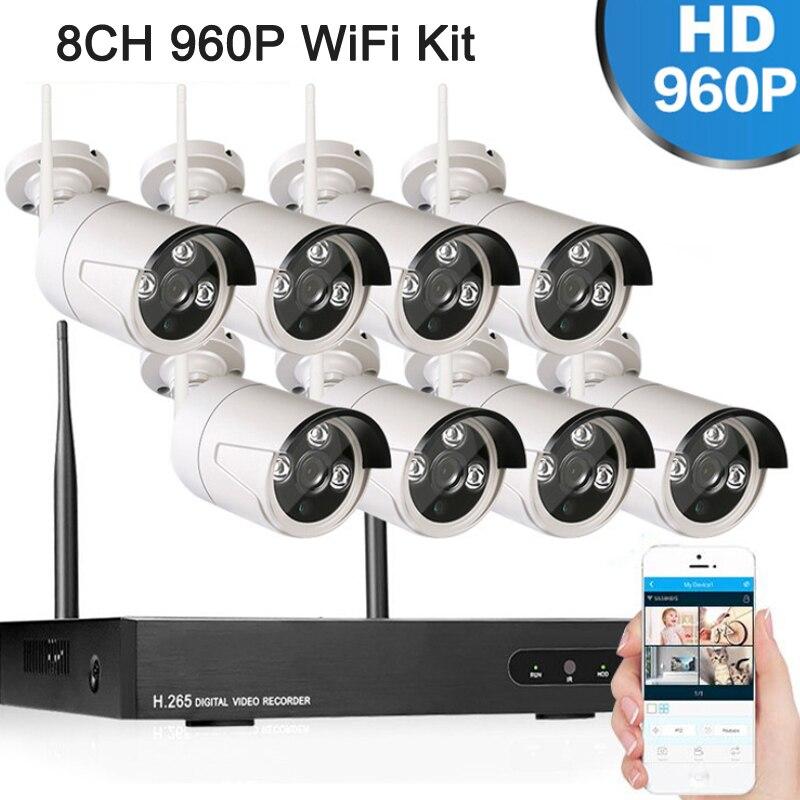 8CH Sistema CCTV Wireless 1080 P NVR 8 PCS 1.3MP IR Esterno P2P Wifi IP CCTV Sistema di Telecamere di Sicurezza Video kit di sorveglianza8CH Sistema CCTV Wireless 1080 P NVR 8 PCS 1.3MP IR Esterno P2P Wifi IP CCTV Sistema di Telecamere di Sicurezza Video kit di sorveglianza