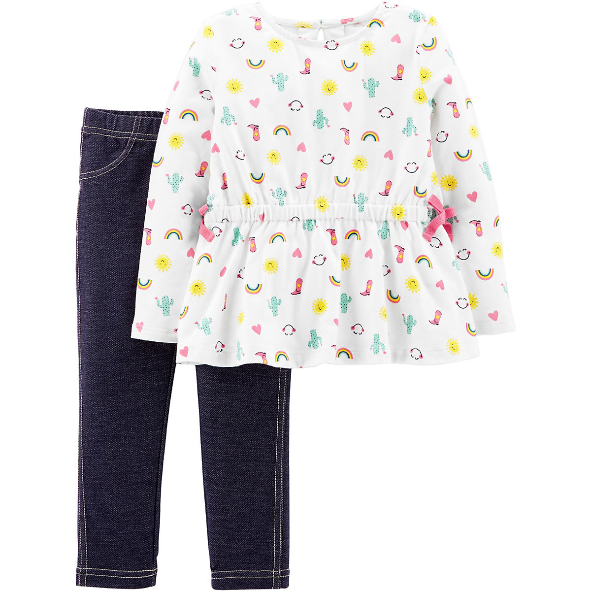 Carter's Children's Sets 10266991 Cotton Girls Casual Children Clothing free shipping fall winter new fashion toddler girls outfit cotton children clothes baby 2 pieces clothing sets with pockets f072