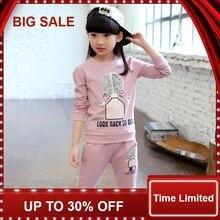 Child Baby Girls Clothing Set Kids Sport Suits for Girls Cotton Children Tracksuits 4-12Y T-Shirt Set недорого