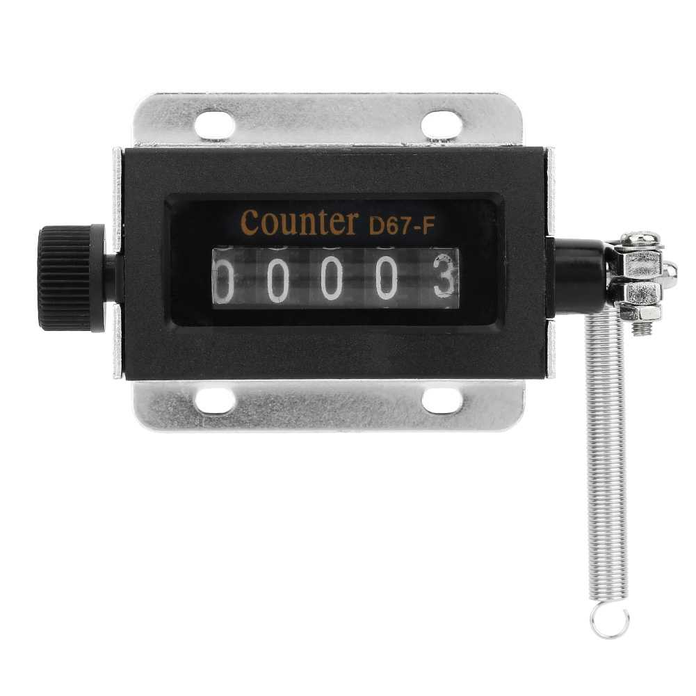 D67-F 5 Digit Mechanical Resettable Manual Hand Pull Stroke Tally Counter 1pcs