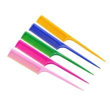 5 шт. расческа для салона с длинной ручкой прочная пластиковая остроконечная щетка для волос для салона дома