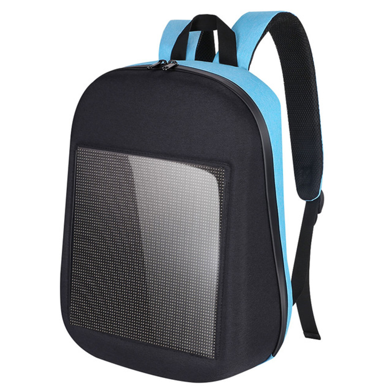 Fashion Waterproof Wifi Version Smart Led Screen Dynamic Backpack Diy Light City Walking Outdoor Climb Bags Advertising Backpa