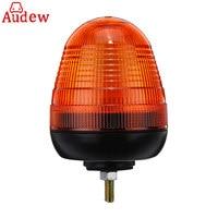 1Pcs Amber Warning Strobe Light LED Rotating Flashing Beacon 1 Bolt for Truck Tractor Car 12V/24V