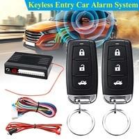 Universele One-Way Auto Alarm Voertuig Systeem Beveiliging Systeem Keyless Entry Siren 2 Afstandsbediening Inbreker