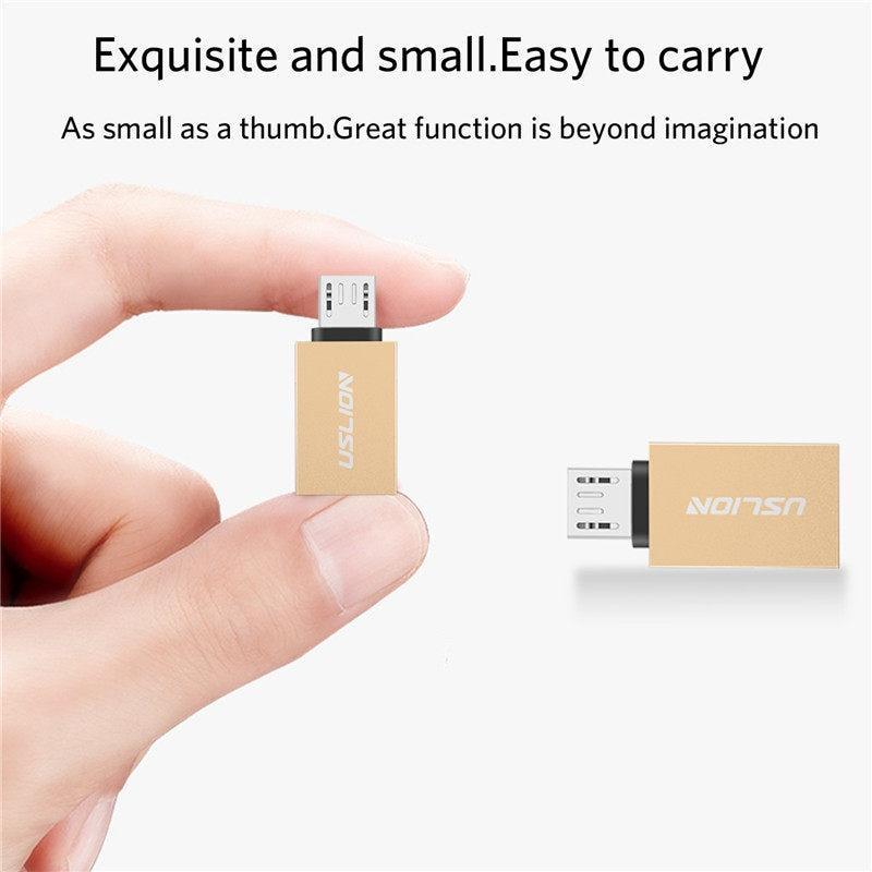 USLION OTG Micro USB адаптер OTG Micro USB к USB 3,0 кабель для передачи данных для Android Phone мини-адаптер для Samsung Xiaomi