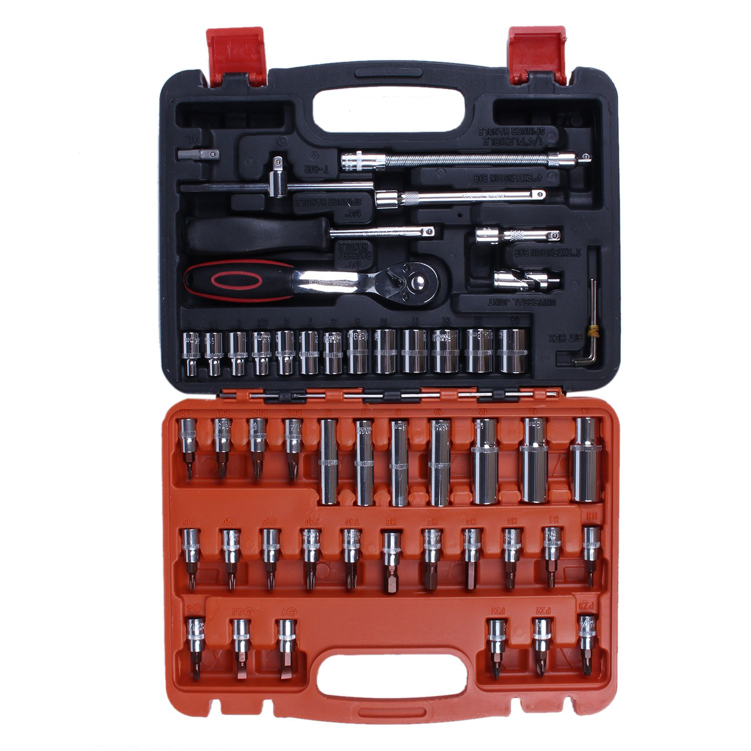 Automotive Mechanics Tool Set Box Case Car Motorcycle Home Repair Kit 53 Piece