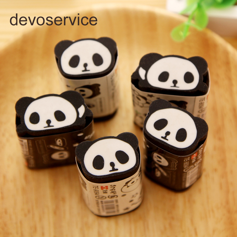 Kawaii Cuttable Pencil Eraser For Kids Cartoon Cute Panda Set  Bear Erasers Rubber Borrach Can Be Cut Into Pcs School Supplies
