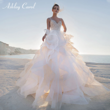 Ashley Carol Sexy Sweetheart Backless Beach Wedding Dress