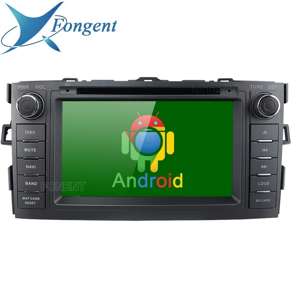 For Toyota Auris 2008 2009 2010 2011 2012 Vehicle GPS Navigator Android Unit 2 din DVD Audio Auto Stereo radio Multimedia Player