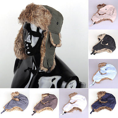 Cap Bomber-Hats Russian Ski-Hat Ear-Flaps Trooper Trapper Winter Women New Unisex Warm