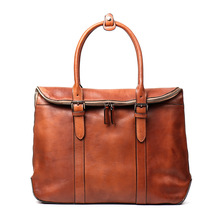 2019 Man Head Layer Cowhide Portable Briefcase Vegetable Tanning Leather Computer Bag Manual Wipe Color Business Top Handle Bag цена 2017