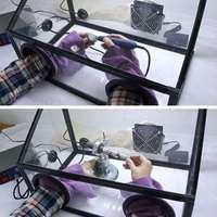 Полностью закрытый защитный чехол щит электрический шлифовальный станок акриловая Пылезащитная крышка с Ligth + Вентилятор Аксессуары для эл