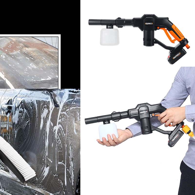 Image 3 - Portable 12V Car Washer Guns Cordless Pressure Cleaner Rechargable Car Care Washing Machine Electric Cleaning Device Home Garden-in Car Washer from Automobiles & Motorcycles