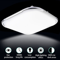Smuxi 20W 48LED Ceiling Light Acrylic Material 5730 Lamp Beads 1600LM Modern Kitchen Bathroom Household Lamps AC110 220V