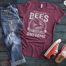 2019 New Fashion Save The Bees Ins Women Tshirts Tees Graphi