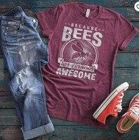 90b82b0a62 2019 nueva moda de salvar a las abejas Ins Mujer Camisetas gráfico Instagram  Tops camisa de