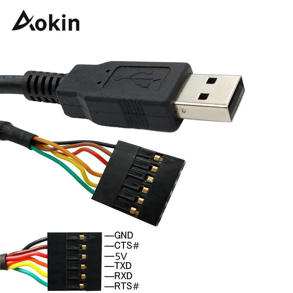 6Pin FTDI FT232RL USB إلى TTL UART المسلسل سلك محول RS232 تحميل كابل وحدة مؤشر LED 3.3/5 فولت لاردوينو