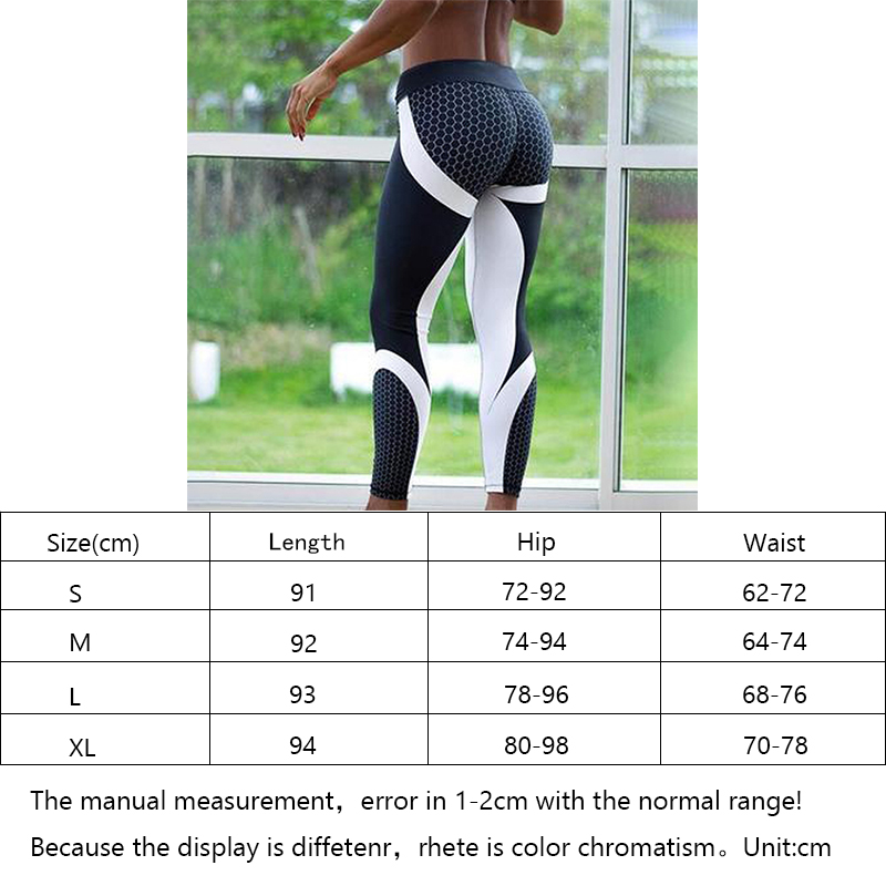 d89f929354 Women Leggings Sport Fitness Mesh Pattern Print High Waist Yoga Pants Push  Up Gym Shark Seamless Jogging Training Pants-in Yoga Pants from Sports ...