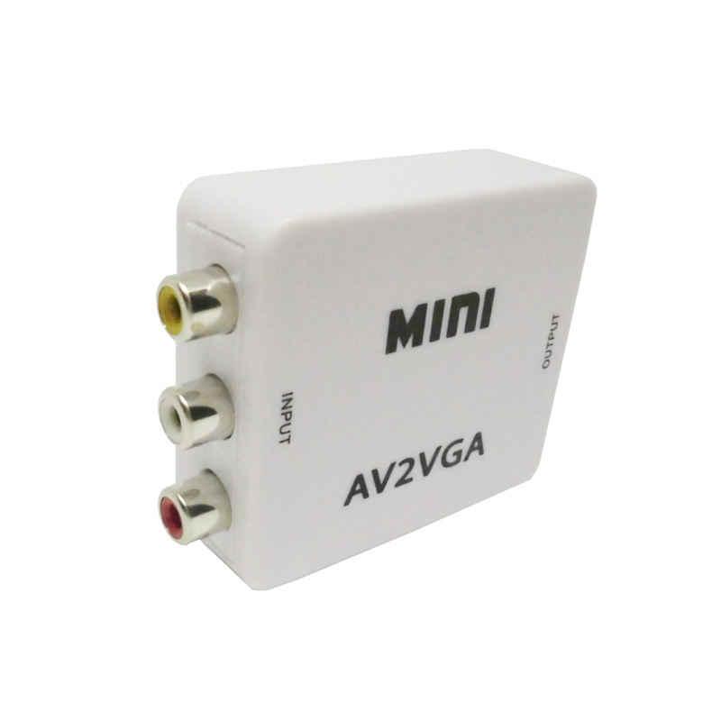 Мини HD AV2VGA видео конвертер коробка AV Rca Cvbs к Vga видео конвертер convoor с 3,5 мм аудио к ПК Hdtv конвертер