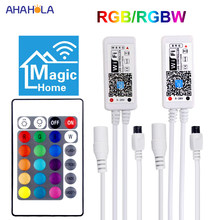 Controlador mágico Wifi en casa Led para banda Led música Bluetooth RGBW RGB Controlador Led Wifi RGB regulador RGBW(China)