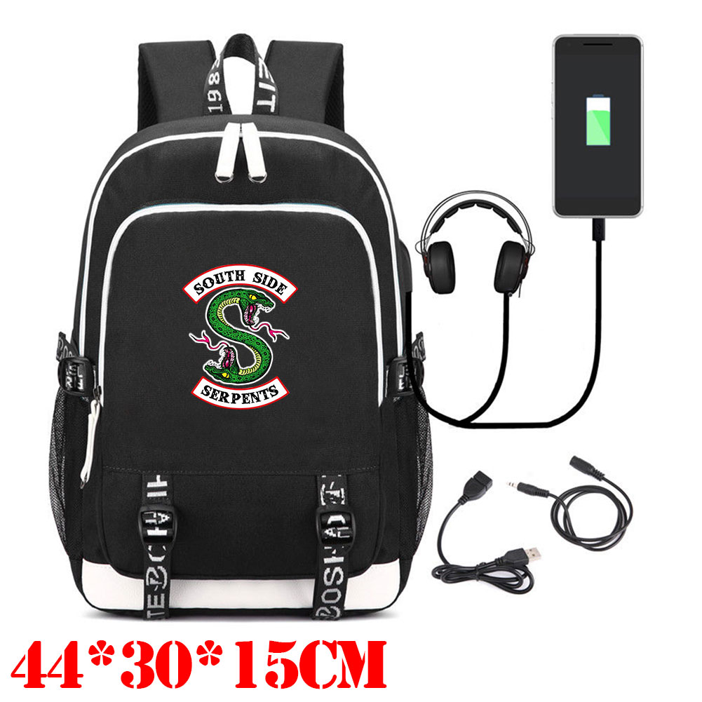 Wellcomics RIVERDALE Archie Andrews Betty Cooper Serpents Multifunction USB Charging Notebook Backpack Laptop Bag School Bag