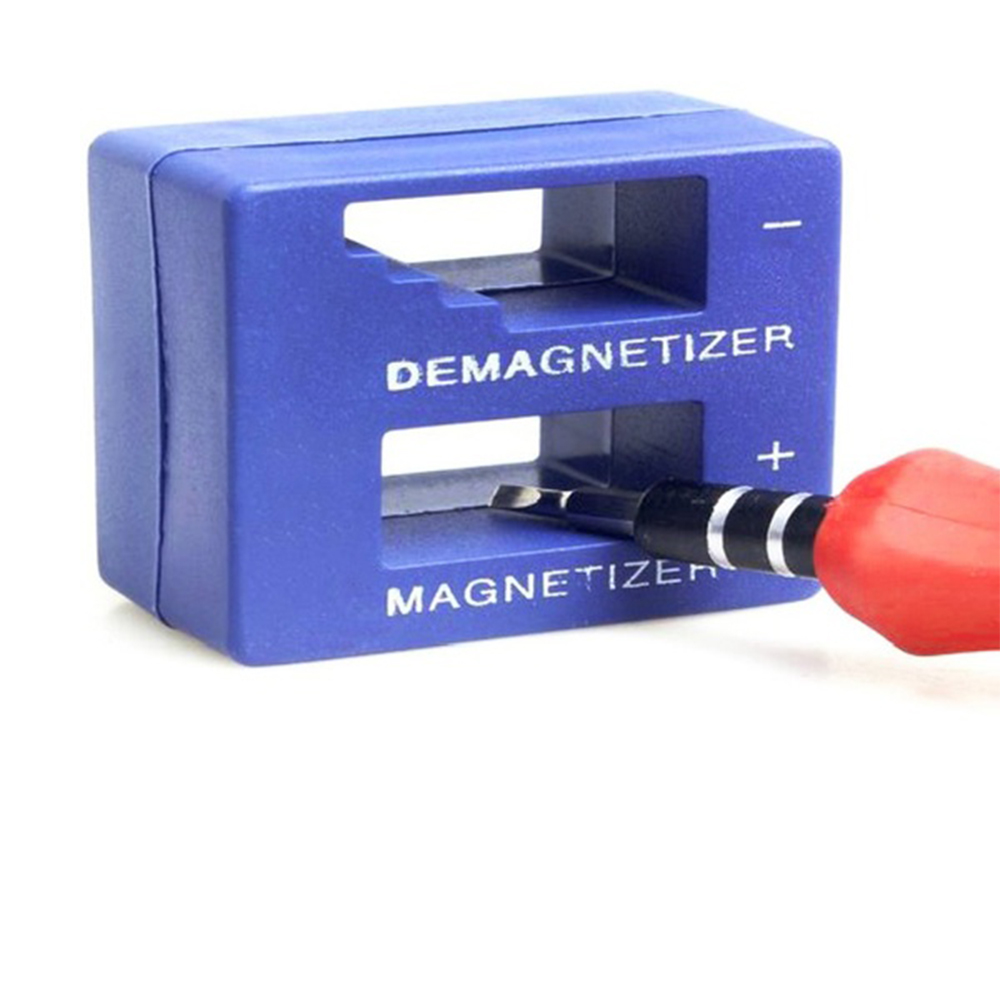 Fast 2 In 1 Magnetizer Demagnetizer Tool Screwdriver Bench Tips Bits Gadget Handy Magnetized Driver Quick Magnetic Degaussing