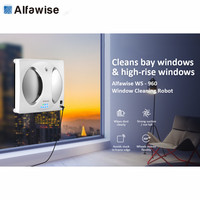 Alfawise WS 960 Smart Robot Vacuum Window Cleaner Automatic Glass Cleaning 2800 PA High Suction Anti Falling Remote Control