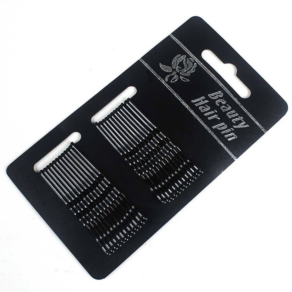 24/комплект черные золотистые шпильки для волос для женщин заколки для волос женские невидимки волнистые заколки для волос аксессуары